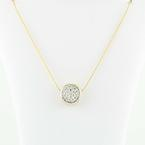 Magnificent 14K Yellow Gold Diamond Studded Pendant Necklace