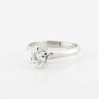 Stunning Solid Platinum Round Diamond Solitaire Wedding Ring