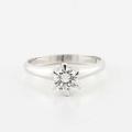 Stunning Solid Platinum Round Diamond Solitaire Wedding Ring