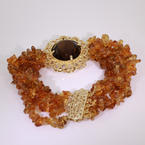 Stunning Ladies Estate 14kt/18kt Yellow Gold Citrine and Andulusite Vintage Bracelet Jewelry