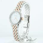 Authentic Ladies Bulova 2 Tone Stainless Steel 72 Diamond Watch 98R182