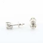 Must Have 14K White Gold Diamond Studs Earrings Over 1 Carat Total