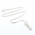 Magnificent 14K White Gold Diamond Journey Pendant Necklace Jewelry Chain
