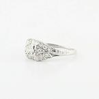 Vintage Platinum Antique Diamond Engagement Ring