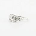 Vintage Platinum Anitque Diamond Engagment Ring