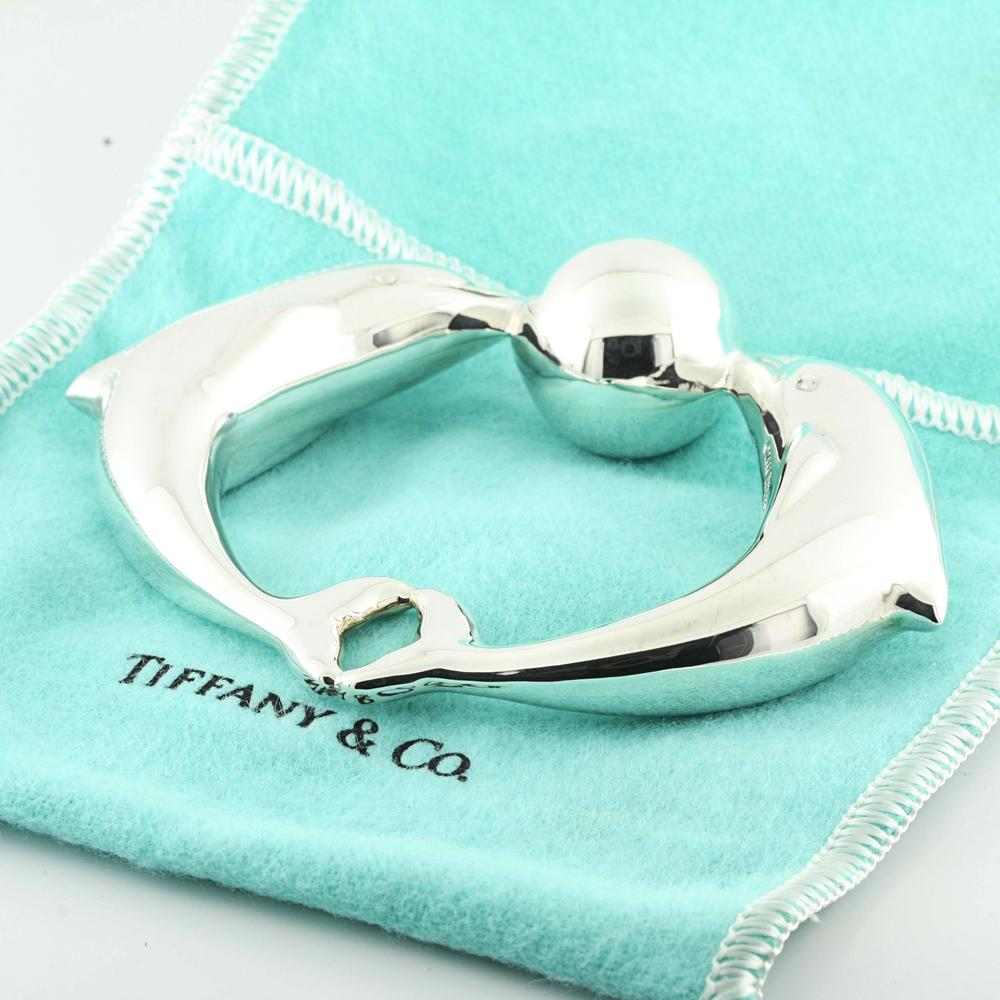 Rare Authentic Tiffany & Co Sterling Silver Dolphin Ball Baby Rattle | Online Pawn Shop | Out Of ...