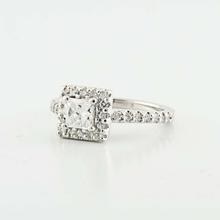 Brilliant 14K White Gold Princess Round Diamond Engagement Wedding Ring