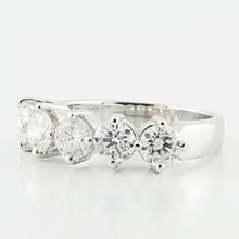 Absoutely Stunning 18K White Gold 5 Diamond 1.75 CT Total Prong Set Ring