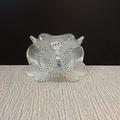 Lalique 3 Anemons Candle Holder France