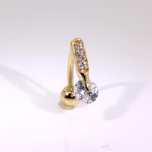 Stunnung 14k yellow gold Belly  Ring