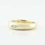 Beautiful 14K Yellow Gold Solitaire Marquise Diamond Ring Band