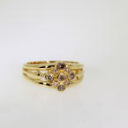 Charming Ladies 18K Yellow Gold Diamond Right Hand Ring Jewelry