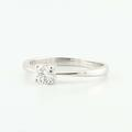 Lovely 14K White Gold Round Diamond Solitaire Engagement Wedding Ring