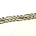 925 Sterling Silver Unisex Figaro Chain