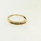 Charming Ladies Estate 10K Yellow Gold Diamond 0.27CTW Ring Band Jewelry