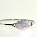 Ladies Estate 925 Sterling Silver Bangle Bracelet Mother Of Pearl Design