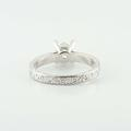 Platinum Solitaire Princess Diamond Engraved Wedding Ring