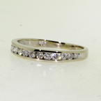 Stunning Ladies 14K White Gold Diamond 0.36CTW Ring Band Jewelry