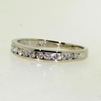 Stunning Ladies 14K White Gold Diamond 0.36CTW Ring Band Jewelry