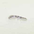 NEW Modern Ladies 14K White Gold Diamond Wave Right Hand Ring Band