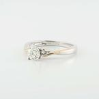 Splendid 14K White Gold Round Diamond Solitaire Engagement Wedding Ring