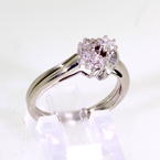 Lovely Ladies 10K White Gold Diamond 0.25CTW Heart Bridal Ring Set Jewelry