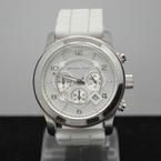 Men's Michael Kors MK-8134 Chronograph White Rubber Watch