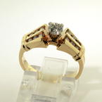 Scintillating Ladies 14K Yellow Gold Diamond 0.50CTW Engagement Ring Jewelry