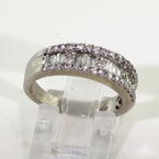 Scintillating Ladies 14K White Gold Diamond 0.75CTW Anniversary Wedding Band Jewelry.