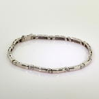 Classic Ladies Estate 14K White Gold Diamond 0.40CTW Tennis Bracelet Jewelry