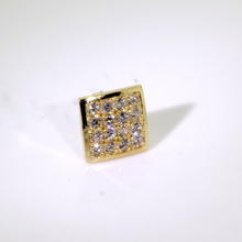 Charming 10K Yellow Gold Zirconia Single Stud Earring Jewelry