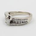 Exquisite Vintage Estate 14K White Gold Diamond Ladies Wedding Ring - 1.00CTW