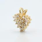 Cute Vintage Estate 14K Yellow Gold Natural Diamond 0.49CTW Heart Pendant Jewelry