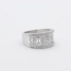 Charming Ladies 14K White Gold Diamond 0.30CTW Right Hand Ring Band Jewelry