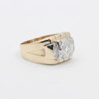 Handsome Men's Vintage 14K Yellow Gold Diamond 0.45CTW Ring Jewelry