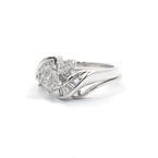 Exquisite Ladies 14K White Gold Diamond 0.85CTW Wedding Ring Set Jewelry