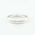 Fine 14K White Gold Round Diamond Wedding Band Mens Ring