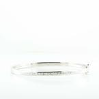 1CT 14K White Gold Princess Diamond Bangle Bracelet