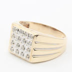 Handsome Men's Vintage 10K Yellow Gold Diamond Ring Jewelry