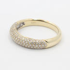 Charming Ladies 14K Yellow Gold Diamond Pave Set 1.05CTW RIng Band Jewelry