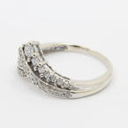 Charming Ladies 10K White Gold Diamond 0.50CTW Right Hand RIng Jewelry