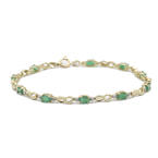 Classic Estate 14K Yellow Gold Emerald 1.50CTW  Tennis Bracelet Jewelry
