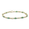 Charming Ladies 14K Yellow Gold Emerald 1.50CTW Tennis Bracelet Jewelry