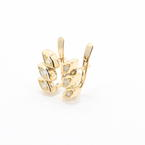 Womens Retro Estate 14K Yellow Gold Natural Diamond 0.40CTW Earrings Jewelry