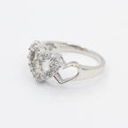 Lovely Ladies 14K White Gold Diamond 0.40CTW Heart Ring Jewelry