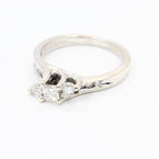 Exquisite Ladies 14K White Gold Diamond 0.50CTW LoveStory Engagement Ring Jewelry