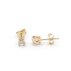 Charming Ladies 14K Yellow Gold Diamond 0.38CTW Stud Earrings Jewelry