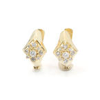 Scintillating Ladies 14K Yellow Gold Vintage Diamond 1.00CTW Earrings Jewelry