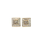 Charming Ladies 14K Yellow Gold Diamond 1.65CTW 2pc Ring Earring Jewelry Set