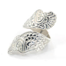 Retro 925 Sterling Silver Unique Aztec Dragon Design Ring Size 7.25